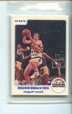 1983-84 Star Denver Nuggets 12 Card Original Sealed Team Set