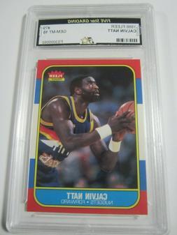 1986 Fleer #79 CALVIN NATT Denver Nuggets Basketball Card Gr