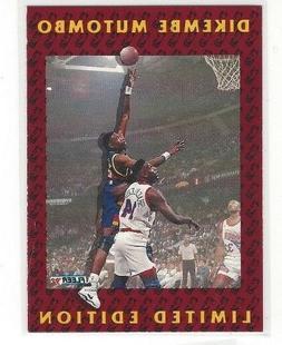 1991-92 FLEER BASKETBALL DIKEMBE MUTOMBO LIMITED EDITION INS