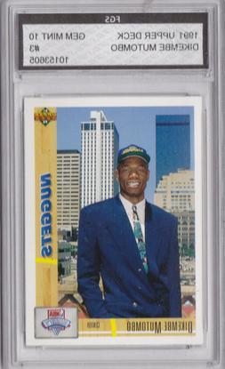 1991 upper deck rookie dikembe mutombo nuggets