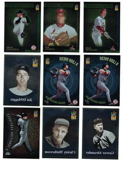 2001 Topps BASEBALL INSERTS GOLD NUGGETS  BEFORE TIME  & OTH