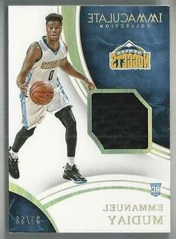 2015-16 IMMACULATE SNEAKER SWATCHES EMMANUEL MUDIAY RC SHOE