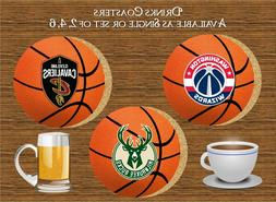 BASKETBALL TEAMS DRINKS COASTER IDEAL GIFT FOR  SISTER MUM D