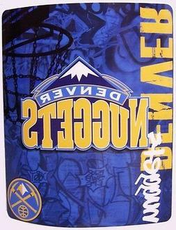 "Blanket Fleece Throw NBA Denver Nuggets NEW 50""x60"" with"