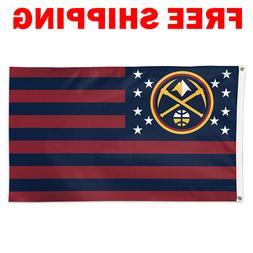 Deluxe Denver Nuggets Stars Stripes Flag 2018 NBA Basketball
