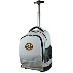Denver Nuggets 19'' Premium Wheeled Backpack - Gray