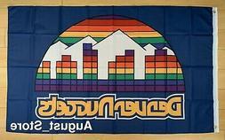 Denver Nuggets 3x5 ft Flag NBA Retro Vintage Throwback