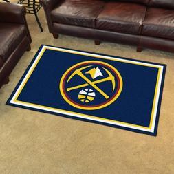Denver Nuggets 4' X 6' Decorative Ultra Plush Carpet Area Ru