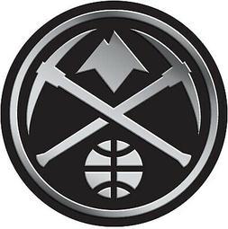 Denver Nuggets Auto Emblem Silver Chrome Color Raised Molded