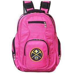 """Denver Nuggets 19"""" Laptop Travel Backpack - Black"""