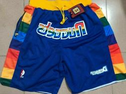 Denver Nuggets Basketball Game Shorts NBA Men's NWT Stitched
