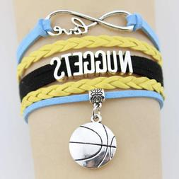 Denver Nuggets Basketball Infinity Love Braided Adjustable B
