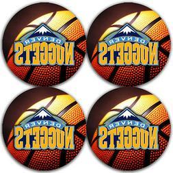 Denver Nuggets Basketball Rubber Round Coaster set  / RNDRBR