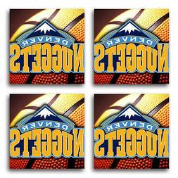Denver Nuggets Basketball Rubber Square Coaster set  SRC2037
