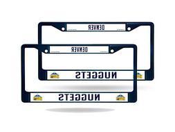 Denver Nuggets Blue Painted Chrome Metal  License Plate Fram