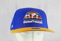 denver nuggets blue yellow nba baseball cap