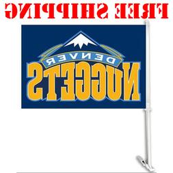 Denver Nuggets Car Flag Double Sided With Pole 2018 NBA Bask