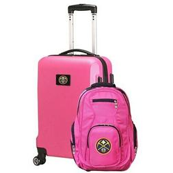 Denver Nuggets Deluxe 2-Piece Backpack and Carry-On Set - Pi