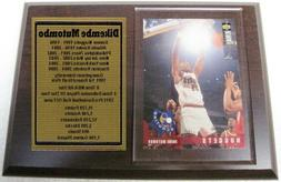 Denver Nuggets Dikembe Mutombo Basketball Card Plaque