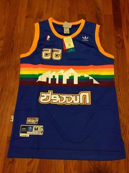 Denver Nuggets Dikembe Mutombo no.55 Rainbow Throwback Swing