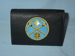 DENVER NUGGETS  embroidered Leather TriFold Wallet NEW in TI