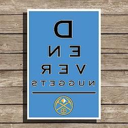 Denver Nuggets Gift Art Basketball NBA Eyechart Poster Man C