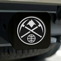 Denver Nuggets Heavy Duty 3-D Chrome Emblem Black Chrome Met