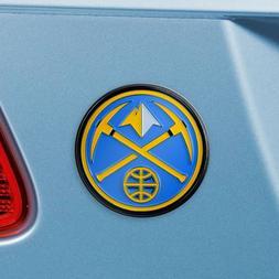 Denver Nuggets Heavy Duty Metal 3-D Color Auto Emblem