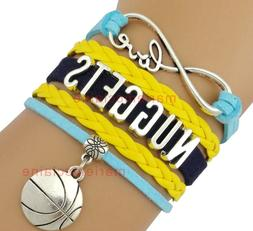 Denver Nuggets Infinity Jewelry Bracelet NBA Basketball Char