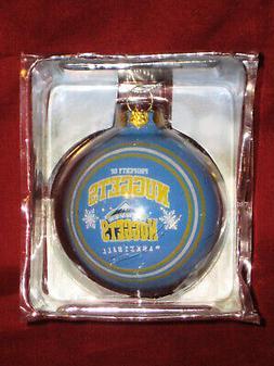 denver nuggets light blue 3 inch glass