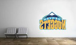 Denver Nuggets Logo Wall Decal NBA Basketball Decor Sport Mu
