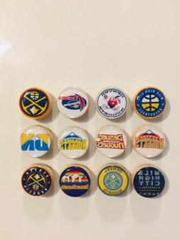 Denver Nuggets Magnets - Set Of 12 - FREE SHIPPING