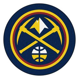 Denver Nuggets Mascot Decorative Logo Cut Area Rug Floor Mat