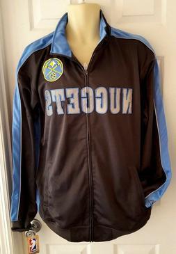 DENVER NUGGETS Mens Jacket XLT Coat Embroidered Logo Full Zi
