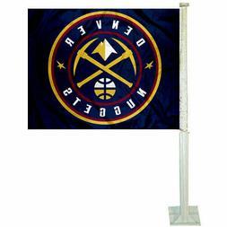 Denver Nuggets NBA 11x14 Window Mount 2-Sided Car Flag