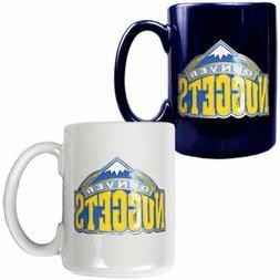 Denver Nuggets NBA 2 Piece Coffee Tea Cup Mug Set