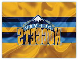 "Denver Nuggets NBA Basketball Car Bumper Sticker Decal ""SIZE"