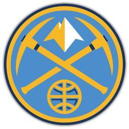 "Denver Nuggets  NBA Basketball Car Bumper Sticker Decal ""SIZ"