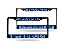 Denver Nuggets NBA Black Metal  Laser License Plate Frame Se
