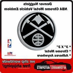 Denver Nuggets NBA Chrome Metal Car Auto Emblem Team Decal L