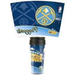DENVER NUGGETS NBA CONTOUR TRAVEL MUG  NEW BY WINCRAFT FREE
