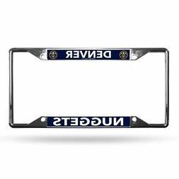 Denver Nuggets NBA Lightweight Chrome Metal License Plate Fr