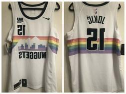 Denver Nuggets NBA Limited Skyline Rainbow Basketball Shirt