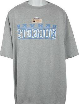 Denver Nuggets NBA Majestic Name & Logo Tee Shirt Big & Tall