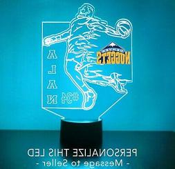 Denver Nuggets Light Up, Personalized FREE, Basketball LED S