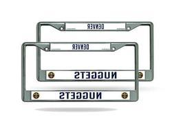 Denver Nuggets NBA  Chrome Metal License Plate Frames