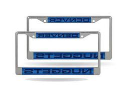 Denver Nuggets NBA  Chrome Metal Laser Cut License Plate Fra