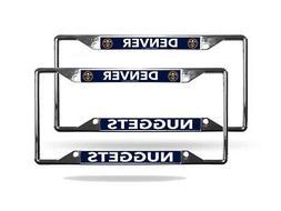 Denver Nuggets NBA  Lightweight Chrome Metal License Plate F