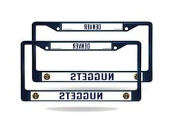 Denver Nuggets NBA  Navy Painted Chrome Metal License Plate