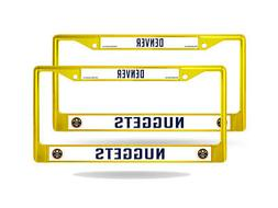 Denver Nuggets NBA  Yellow Painted Chrome Metal License Plat
